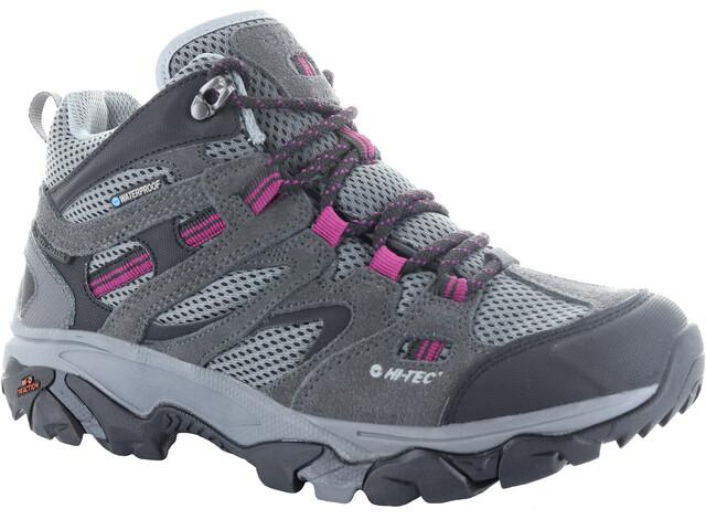 Hi-Tec Ravus Vent Mid WP Shoes Women Charcoal/Cool Grey/Amaranth